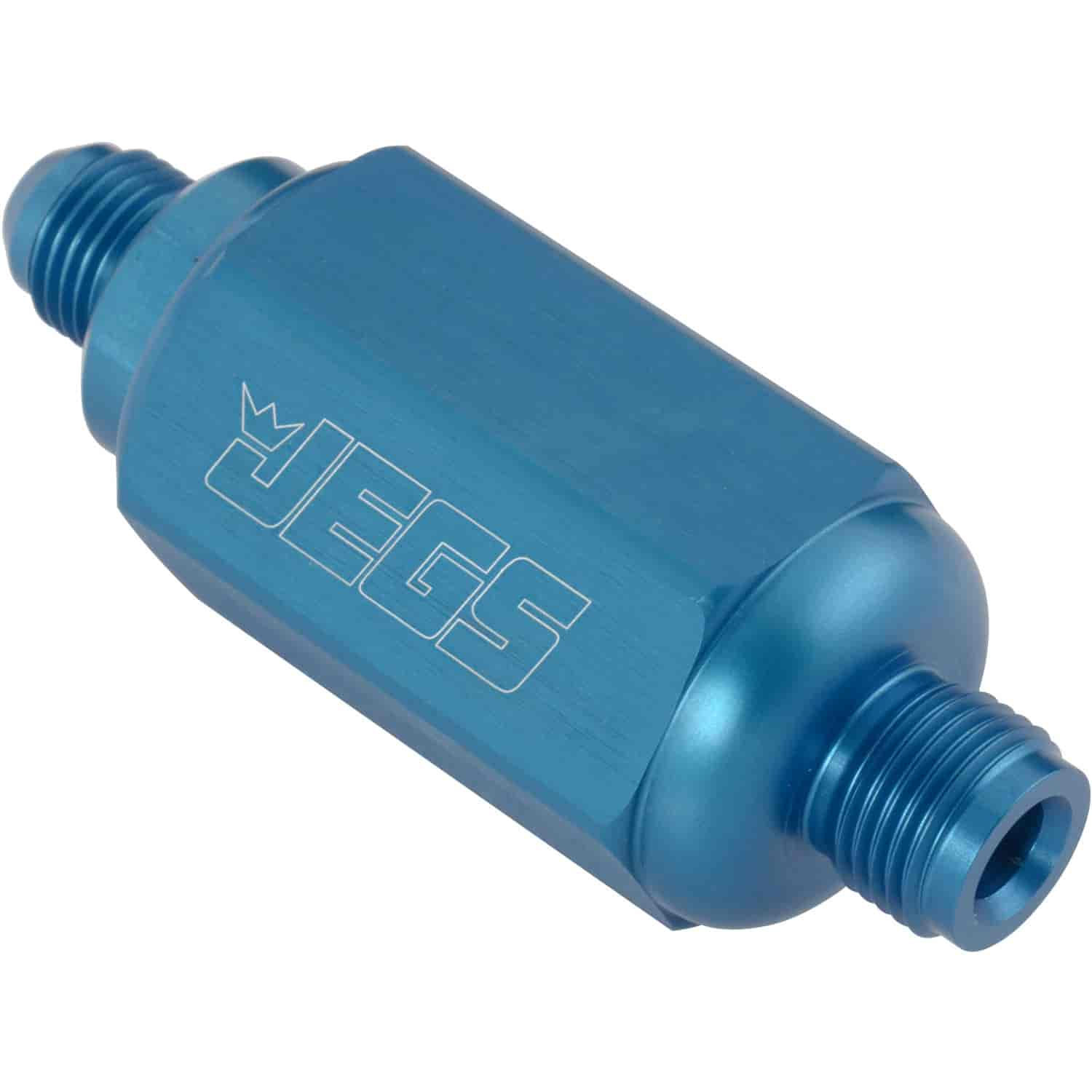 JEGS Performance Products 15067 - JEGS Compact Billet In-Line Fuel Filters, 2-5/16'' Long
