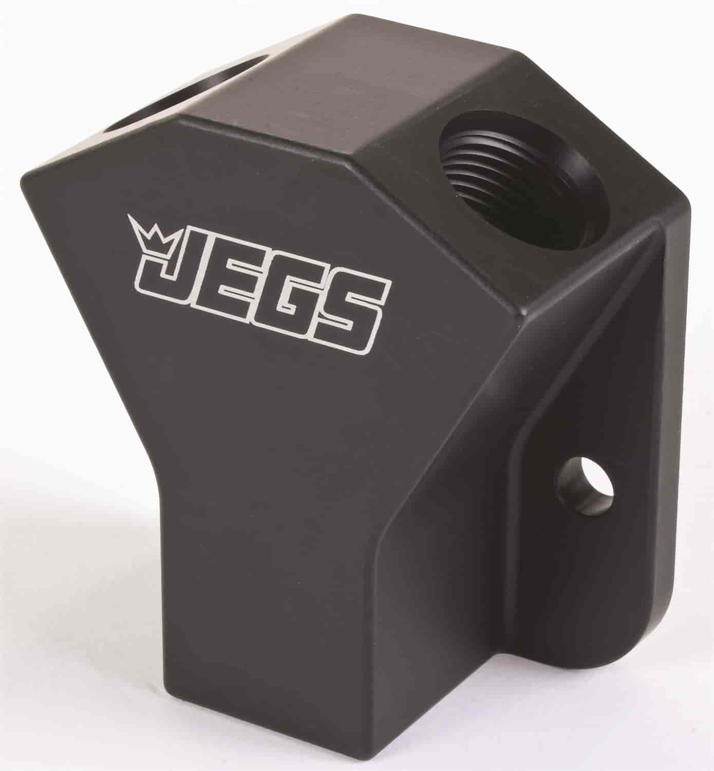 JEGS Performance Products 15115 - JEGS Billet Y-Block with Mounting Tabs