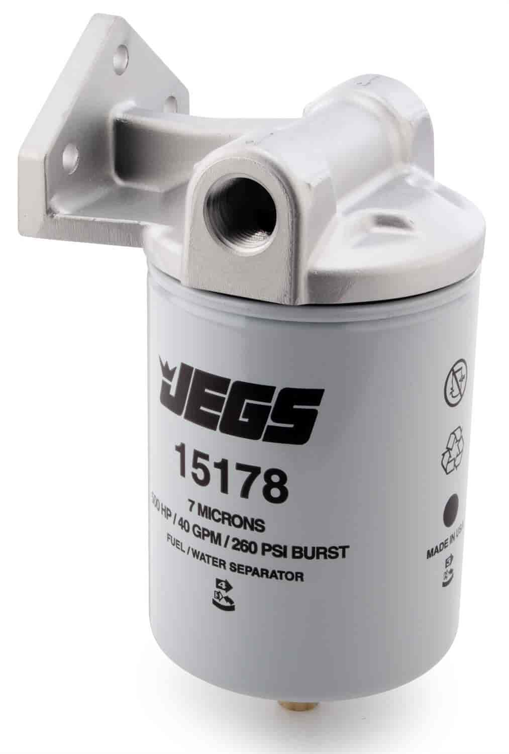 JEGS Performance Products 15177 - JEGS Fuel Filter/Water Separator