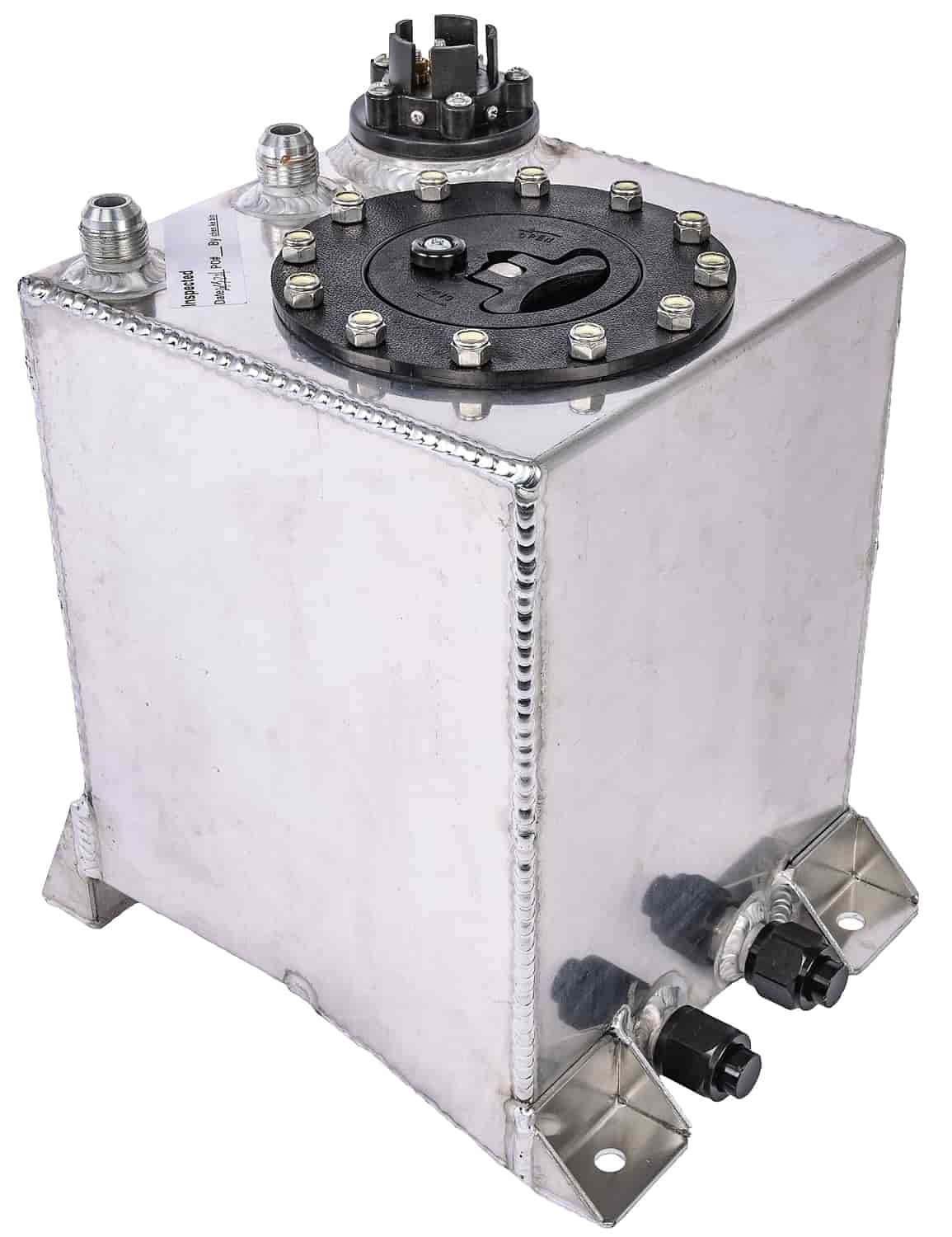 JEGS 2 5-Gallon Upright Fuel Cell [Polished Aluminum]