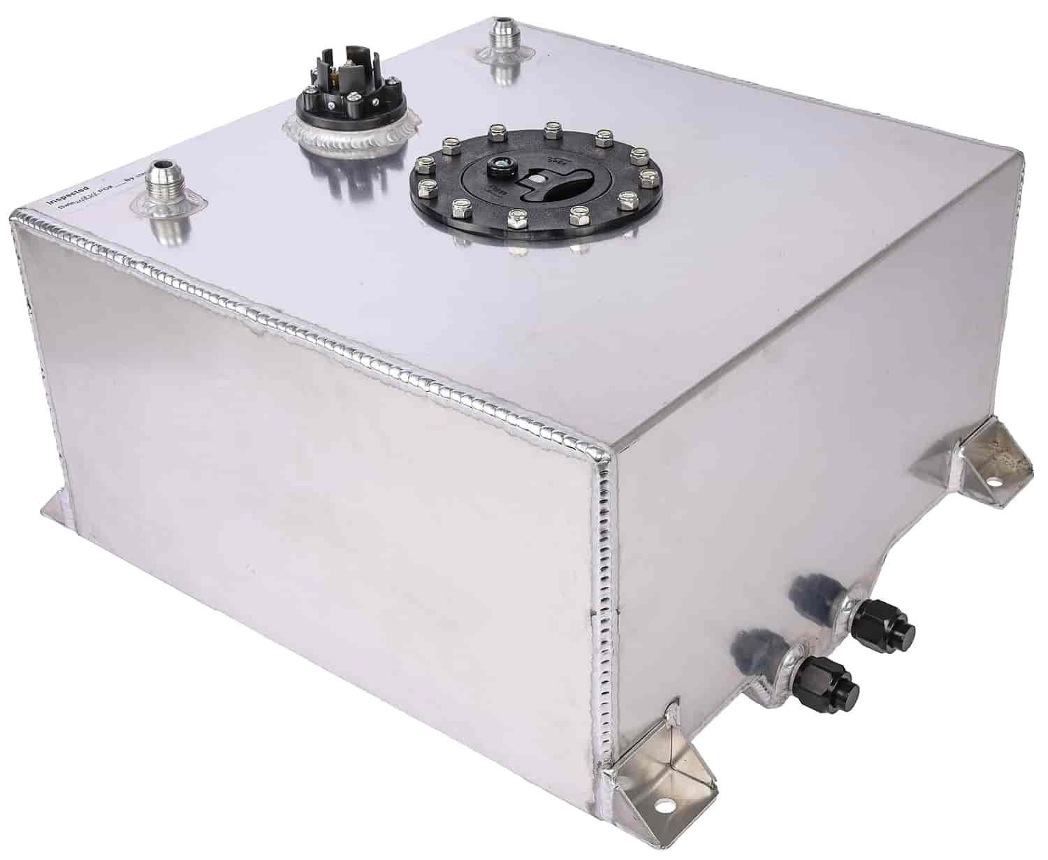 JEGS 10-Gallon Fuel Cell [Polished Aluminum]