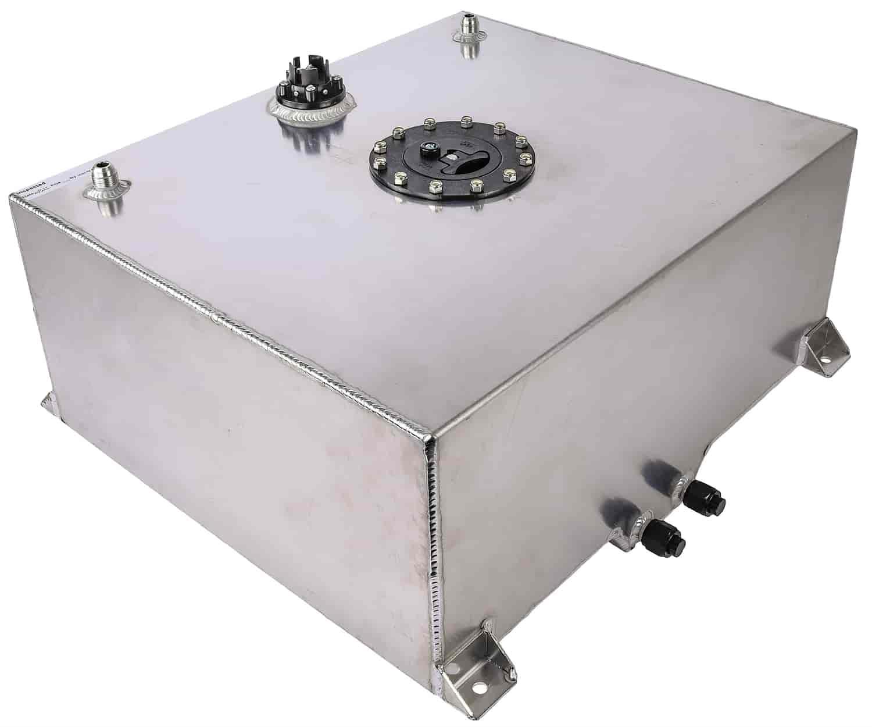 10 Gallon Polished Aluminium Fuel Cell w// 0-90 Ohm Sending Unit /& Sump