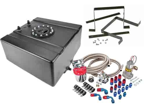 JEGS Fuel Cell with Mounts and Fuel Pump 8 Gallon