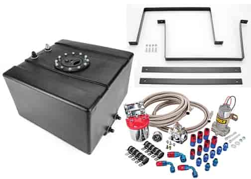 JEGS Fuel Cell with Mounts and Fuel Pump 12 Gallon