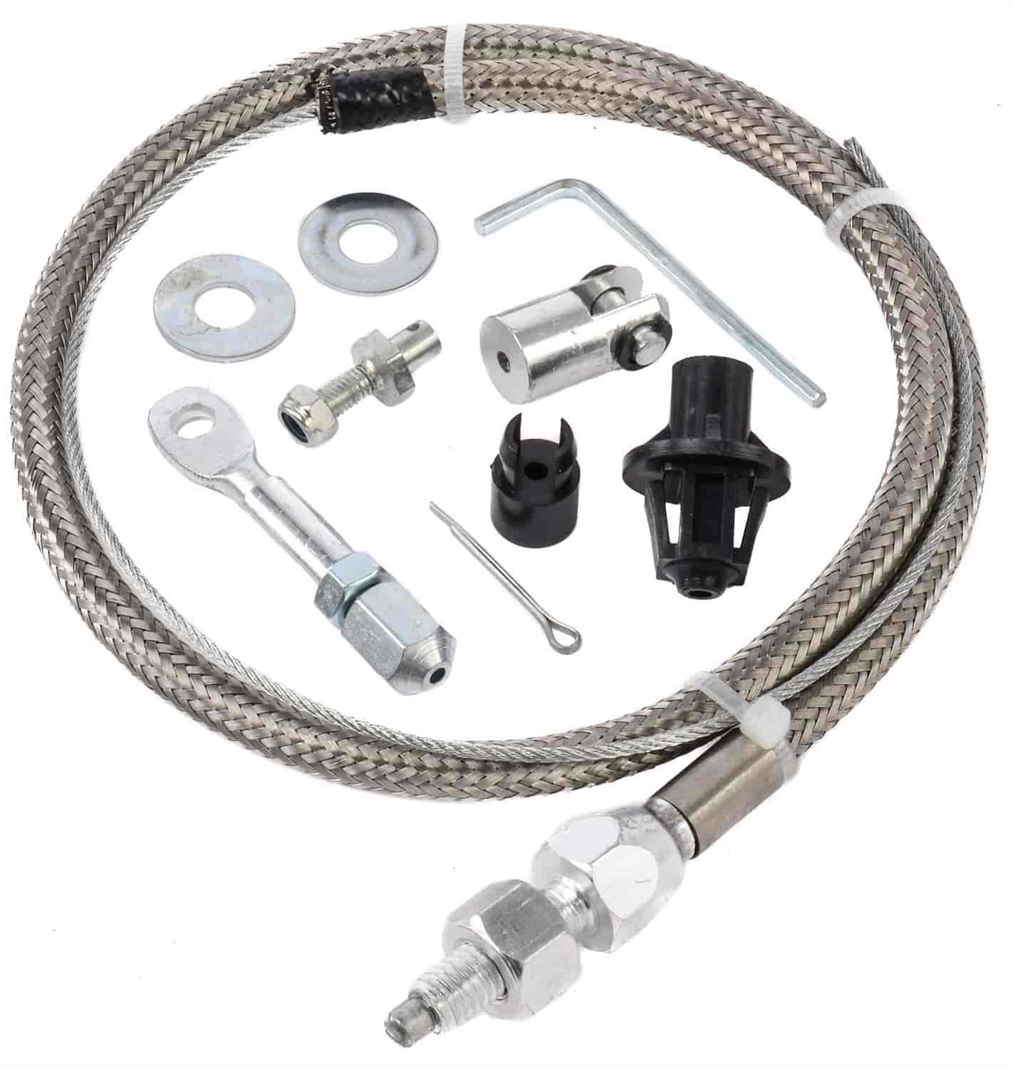 Jegs 157018 Stainless Steel Throttle Cable Universal 24 In