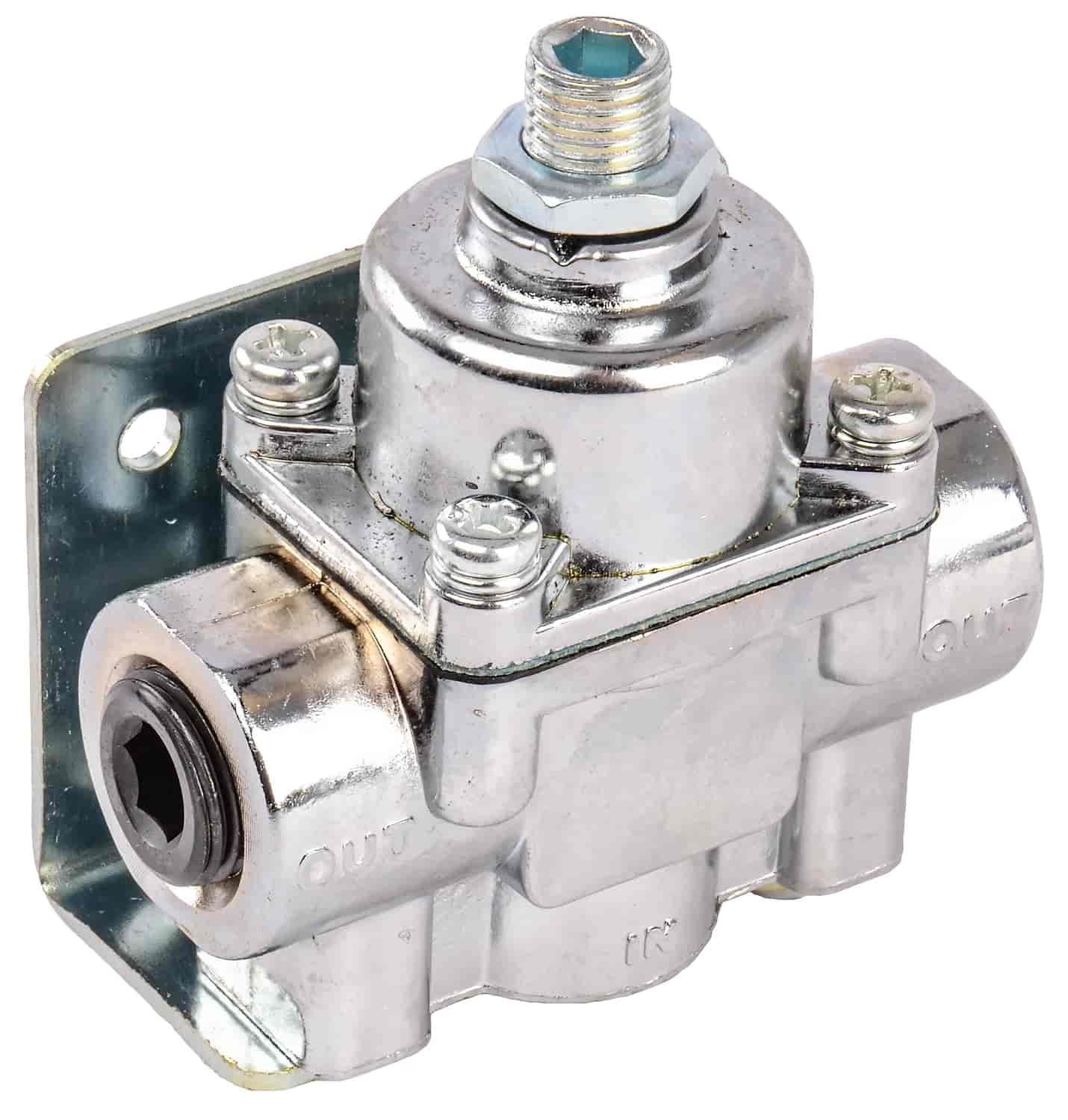JEGS Performance Products 15912 - JEGS 2-Port Adjustable Fuel Pressure Regulator