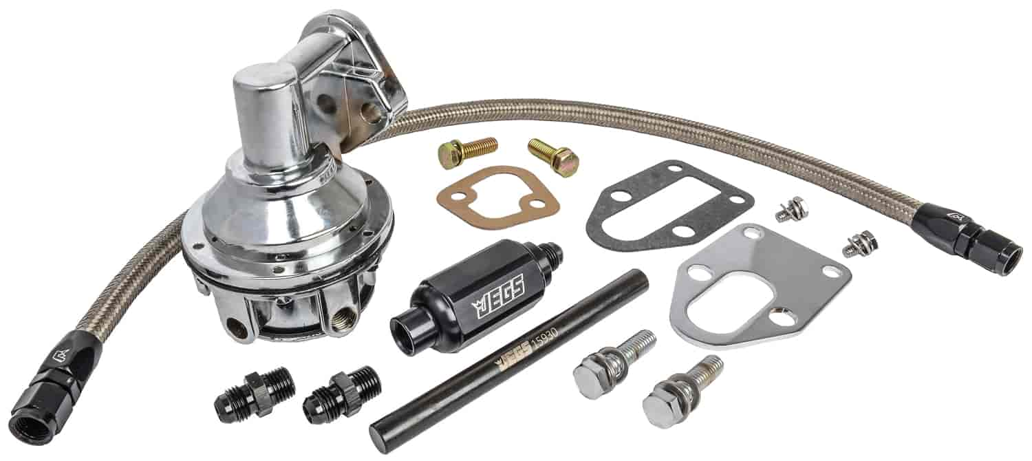 JEGS Mechanical Fuel Pump Installation Kit for Small Block Chevy  265-283-327-350-400