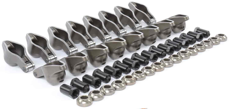 Roller Tip Rocker Arms Steel Big Block Chevy 396 454 7//16 Lock Nuts 1.7 Ratio