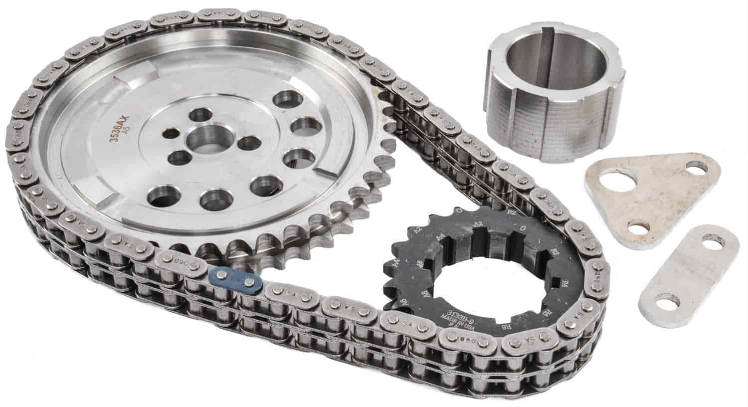 JEGS Performance Products 20402 - JEGS 9-Keyway Double-Roller Billet Timing Chain Sets