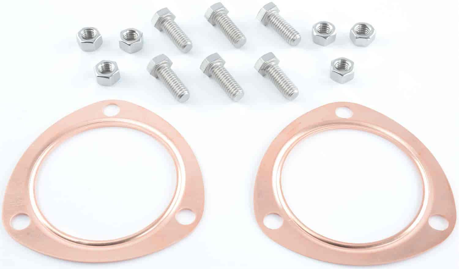 JEGS Performance Products 30701 - JEGS Copper Collector Gasket and Bolt Kit