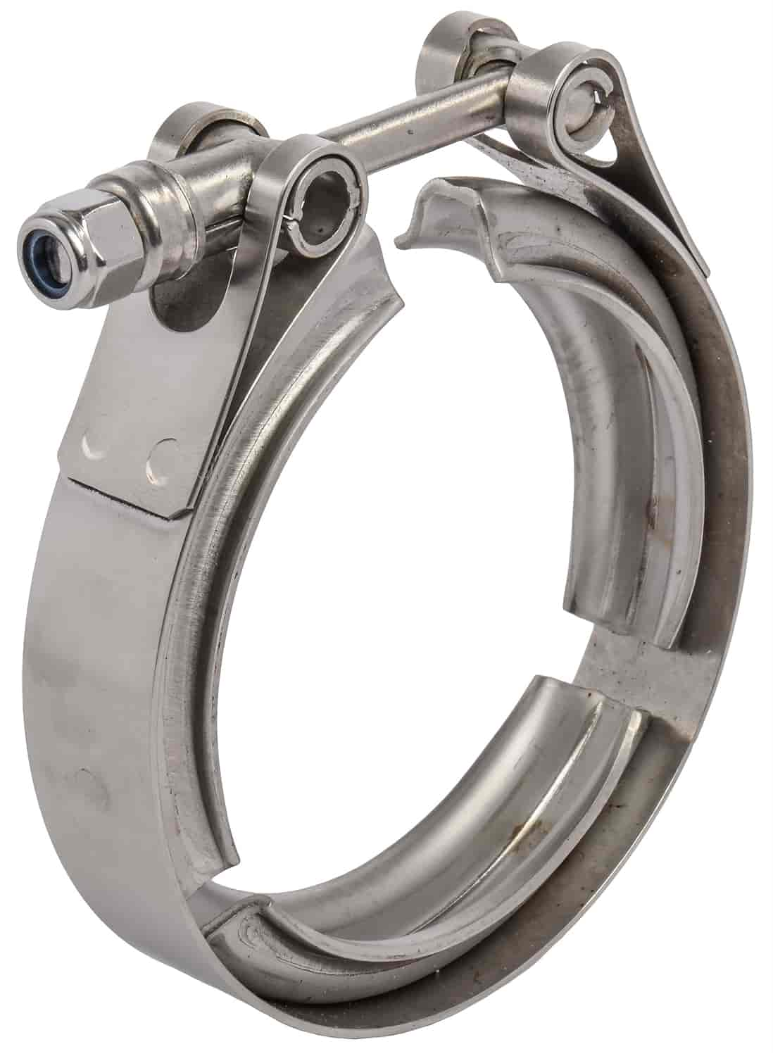 JEGS Performance Products 30875 - JEGS Stainless Steel V-Band Clamps with Steel Flanges