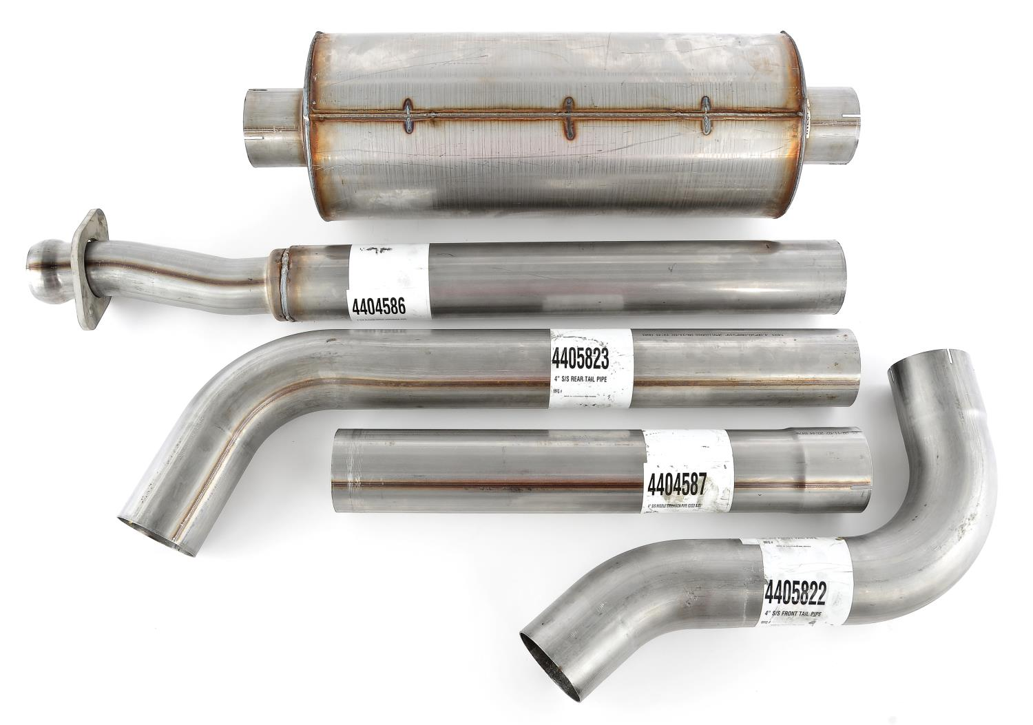 JEGS Performance Products 31215 - JEGS F-150 EcoBoost Twin Turbo 3.5L V6 Exhaust System