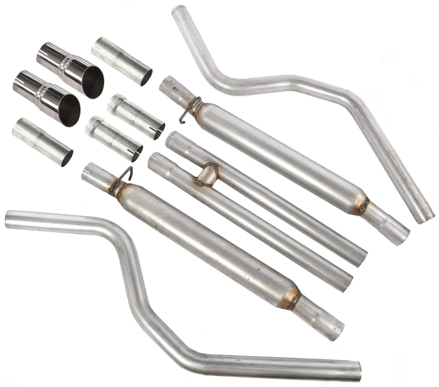 JEGS Performance Products 31222 - JEGS 2005-10 Charger/Magnum/300C Cat-Back Exhaust Kits
