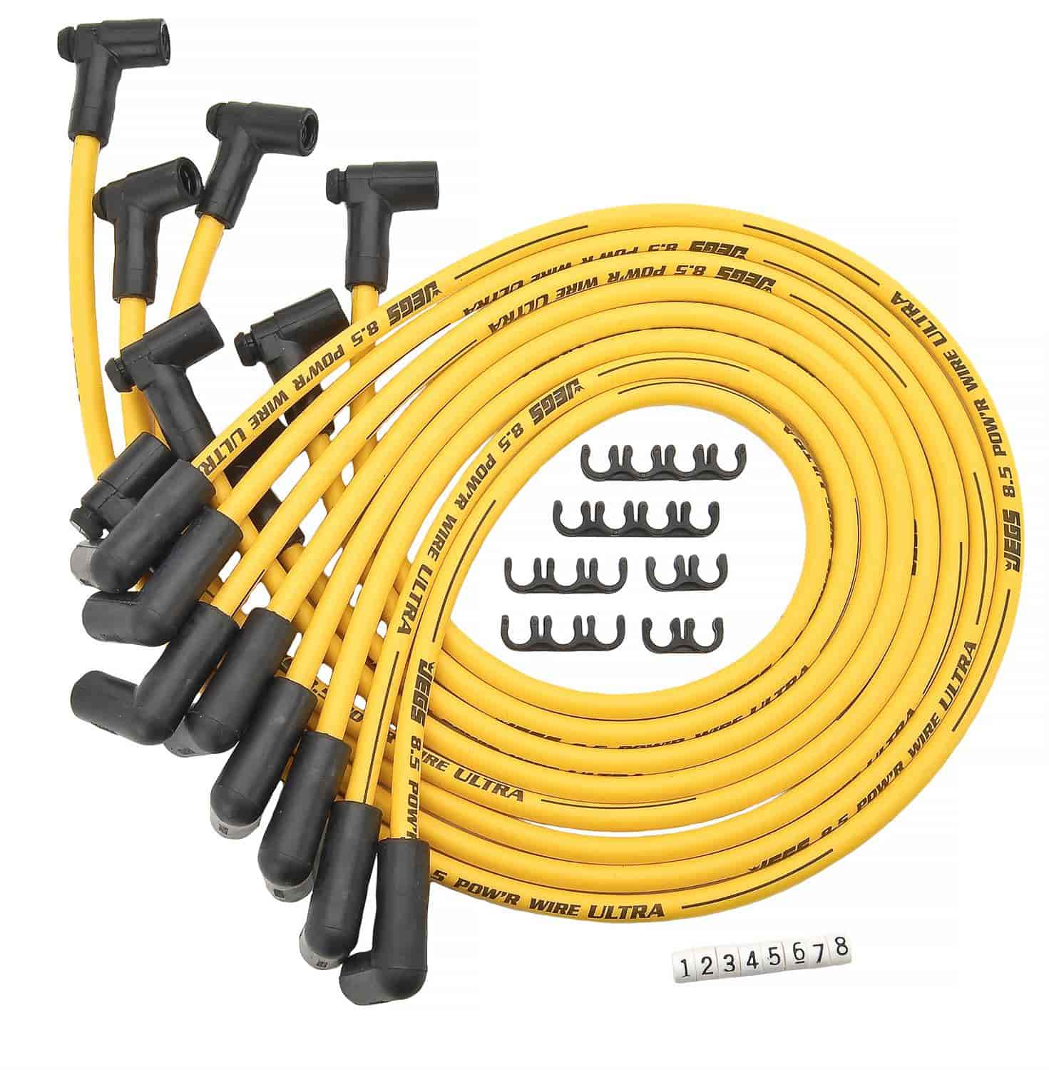JEGS Performance Products 40220 - JEGS 8.5mm Yellow Ultra Pow'r Wires
