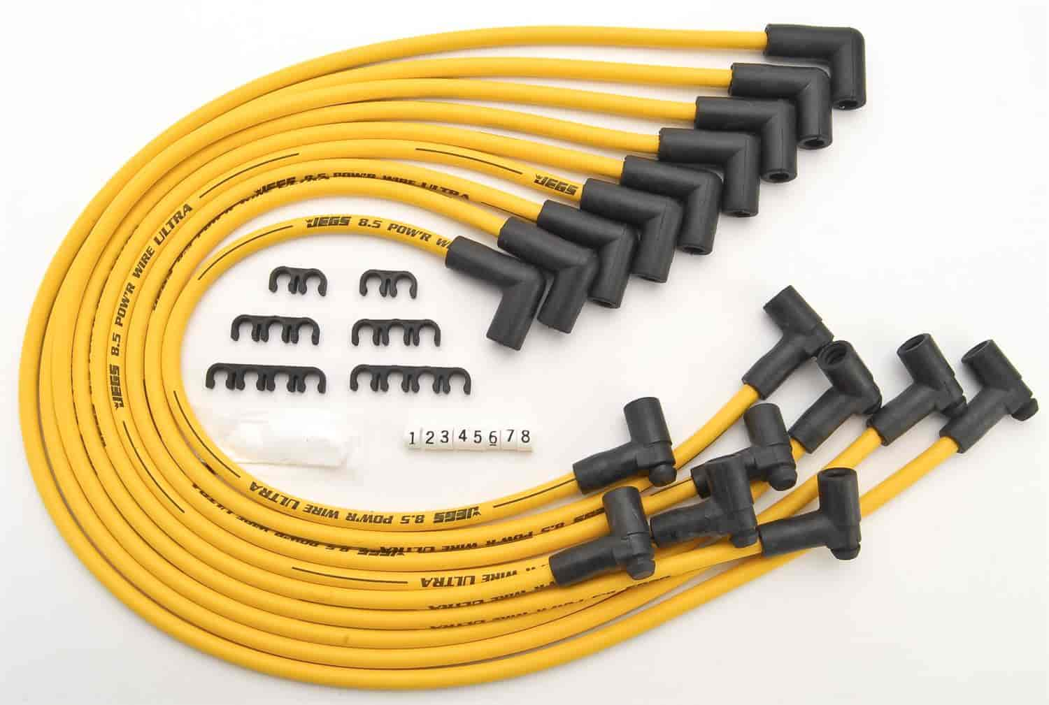 JEGS Performance Products 40221 - JEGS 8.5mm Yellow Ultra Pow'r Wires