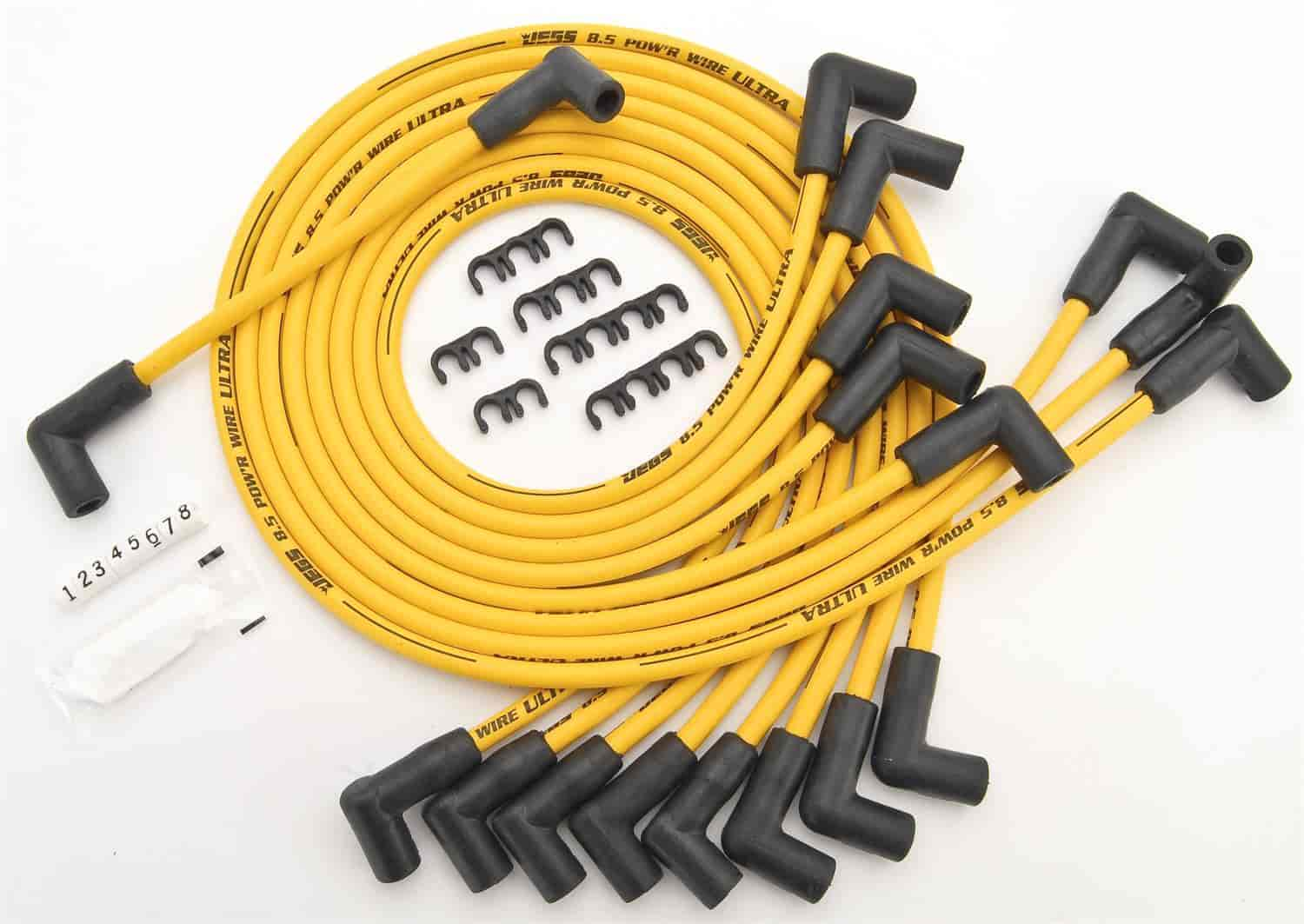 JEGS Performance Products 40223 - JEGS 8.5mm Yellow Ultra Pow'r Wires