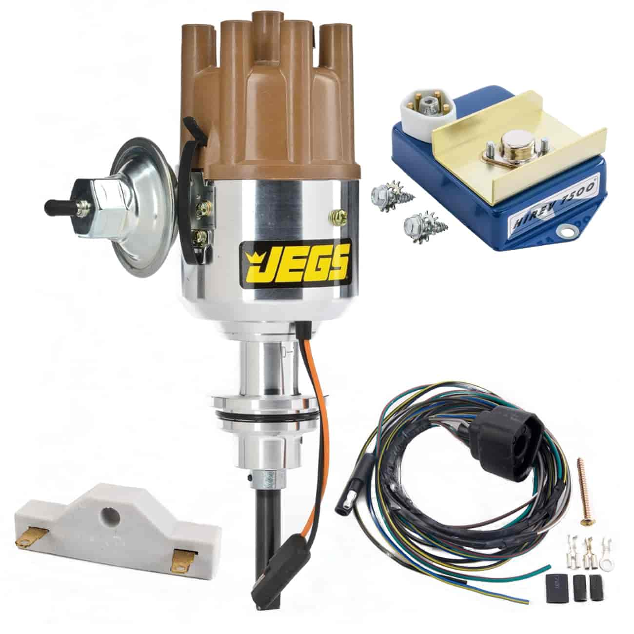 JEGS Performance Products 40500K - JEGS Mopar Electronic Ignition Conversion Kits with Forged Distributors