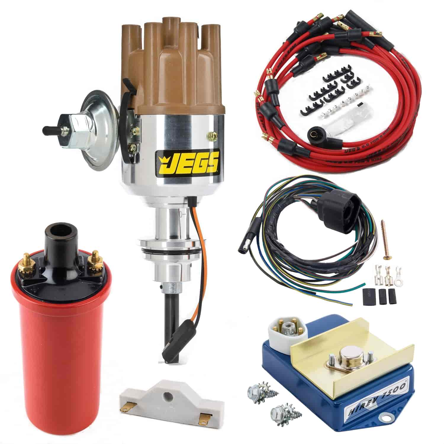 JEGS Performance Products 40500K1 - JEGS Mopar Electronic Ignition Conversion Kits with Forged Distributors