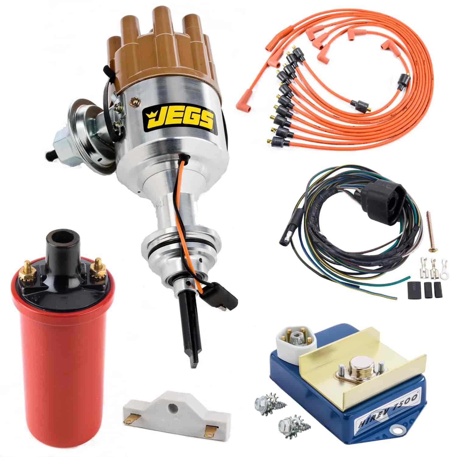 JEGS Performance Products 40504K1 - JEGS Mopar Electronic Ignition Conversion Kits with Forged Distributors