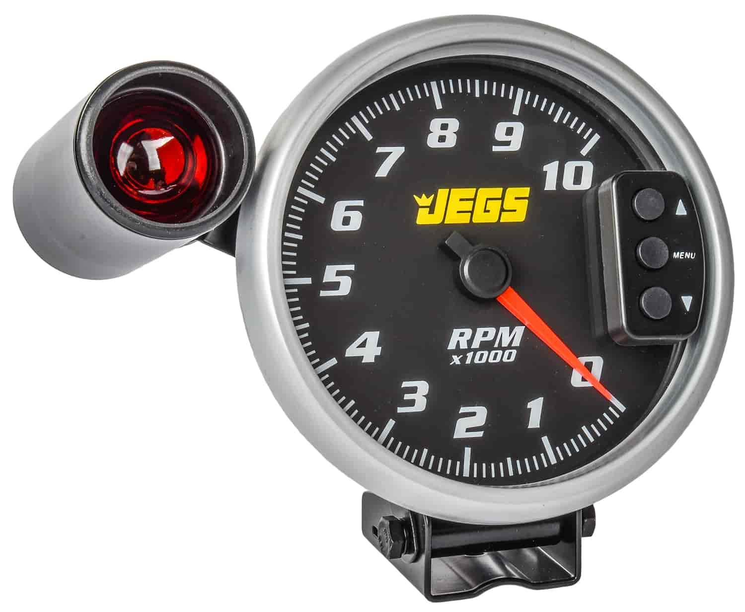 Jegs 41260 5 Tachometer Black Face With Silver Bezel Mustang 0 Tach Wiring