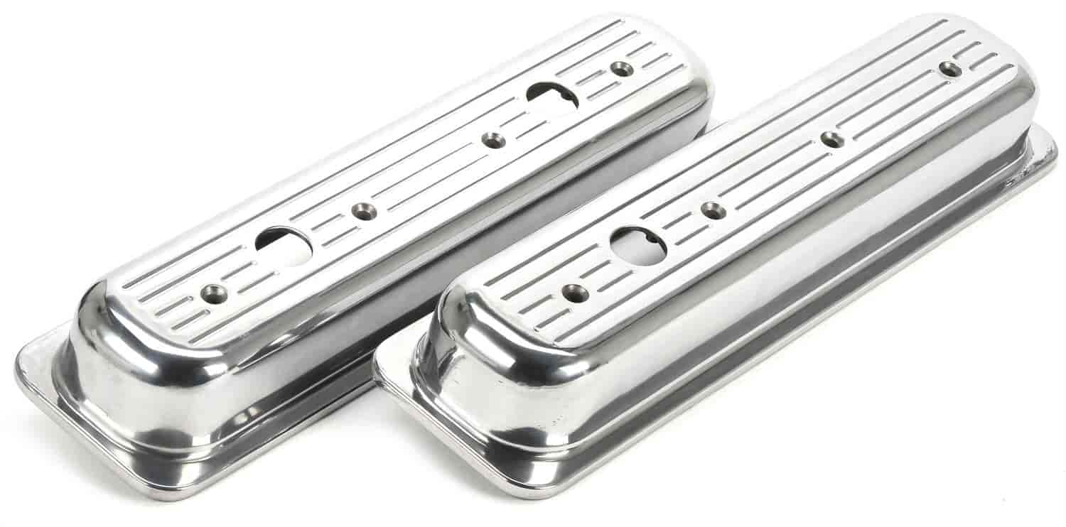 JEGS Performance Products 50162 - JEGS Cast Aluminum Valve Covers