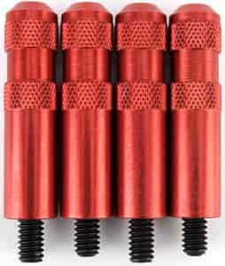JEGS Performance Products 50171 - JEGS Knurled Aluminum Valve Cover Nuts with Studs