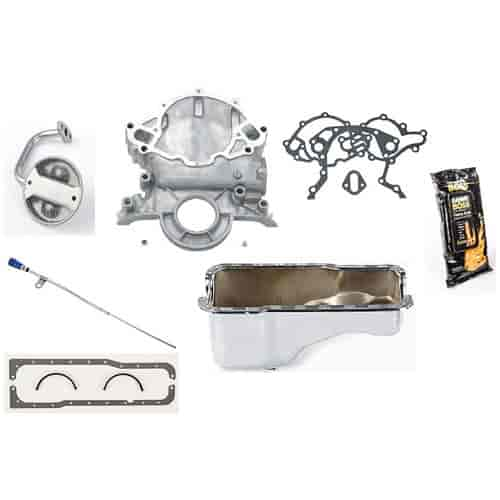 JEGS Performance Products 50300K - JEGS 5.0L Front Sump Oil Pan Conversion Kits