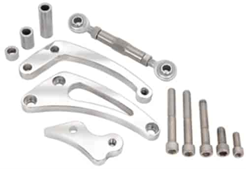 JEGS Performance Products 50545 - JEGS Small Block Chevy Billet Alternator Mounting Brackets