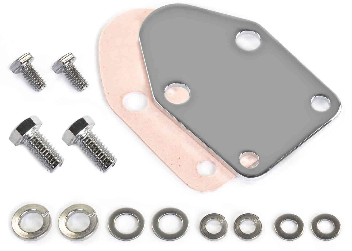 JEGS Performance Products 50581 - JEGS Chrome Fuel Pump Block-Off Plate