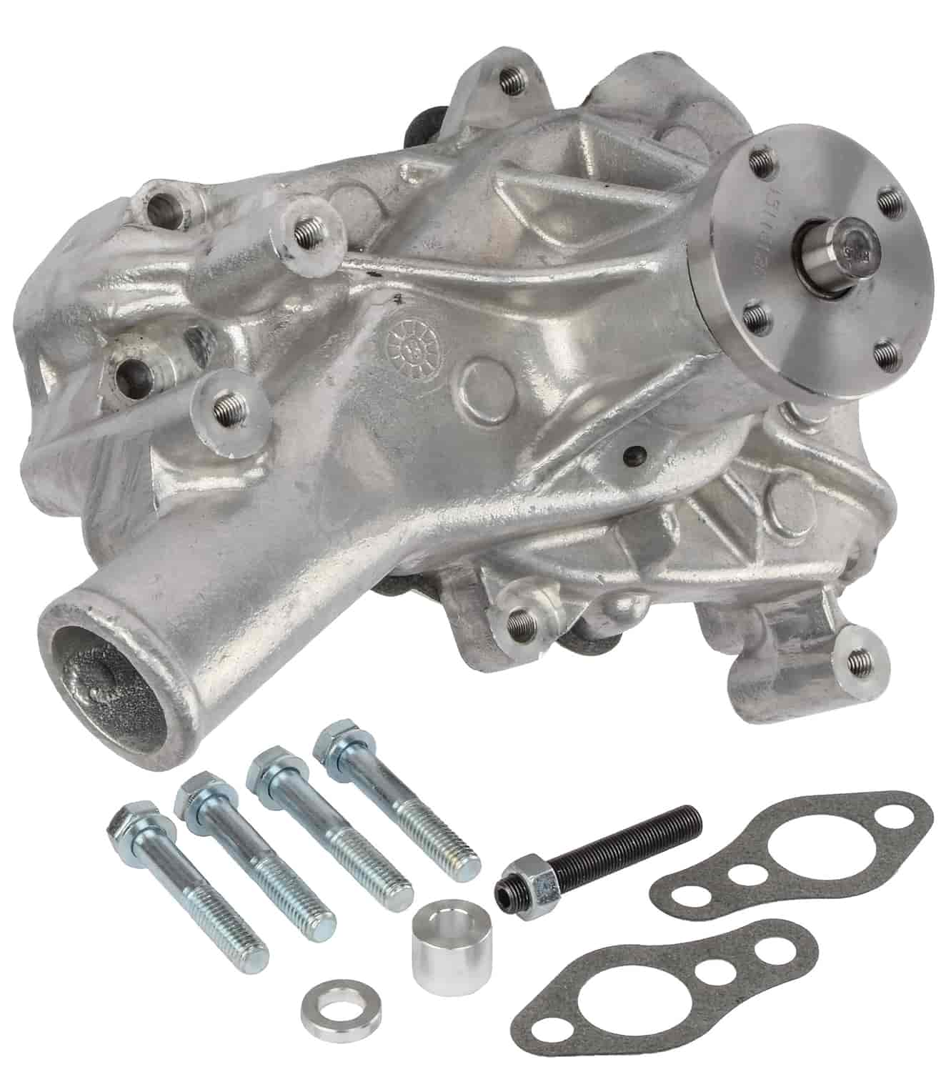 PRW 1435005 Performance Satin Aluminum Long  Water Pump  for Chevy SB V8/'s
