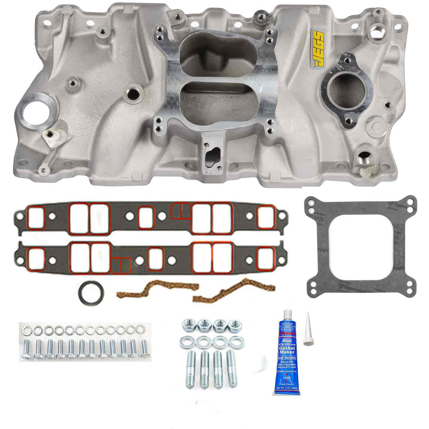 JEGS Performance Products 513001K - JEGS Champion Series 331 Performance Dual Plane Aluminum Intake Manifolds