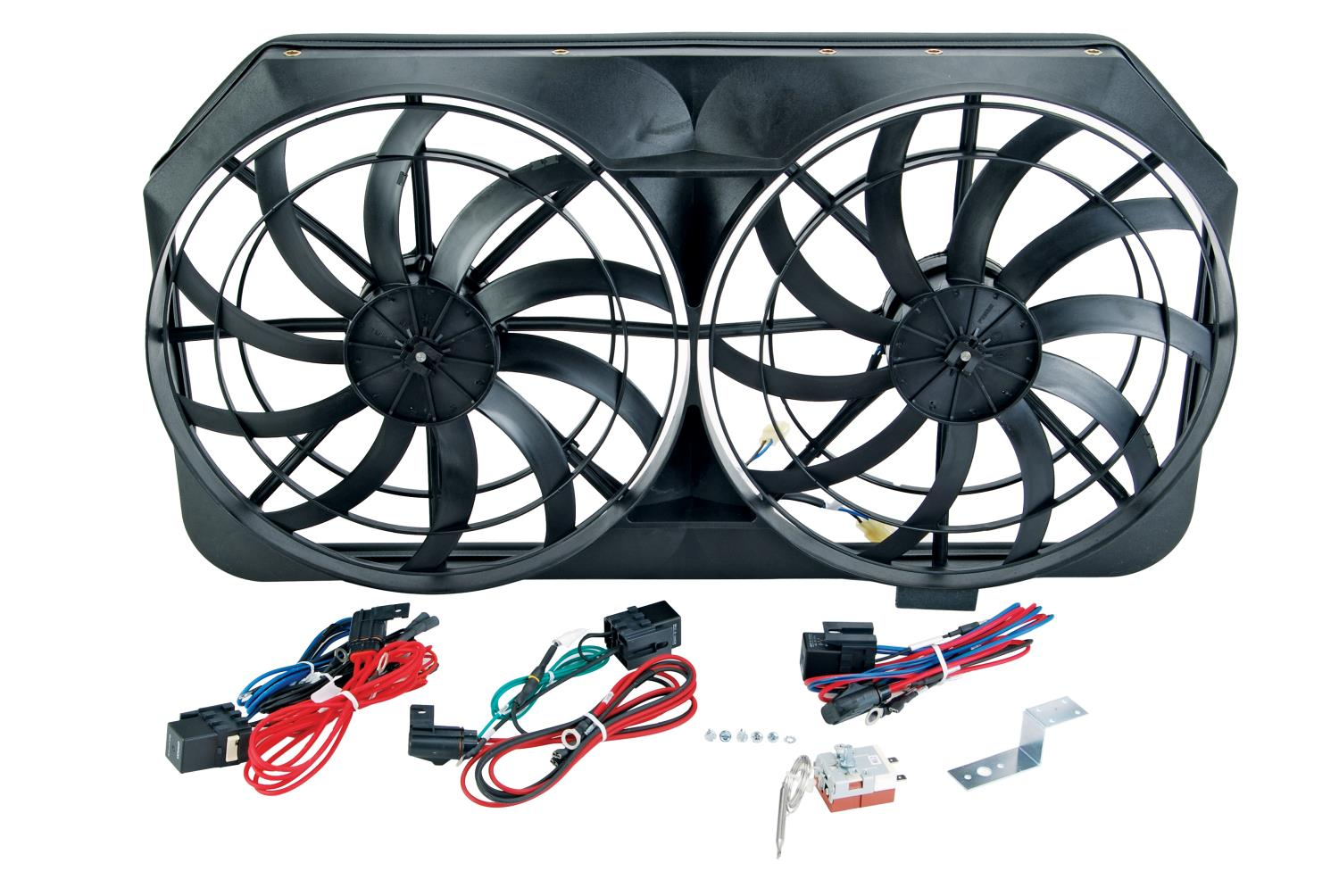 JEGS Performance Products 52140 - JEGS Dual 16'' Cooling Fans for Full-Size Trucks