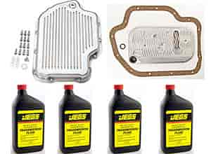 JEGS Performance Products 60181K - JEGS Polished Aluminum Transmission Pans