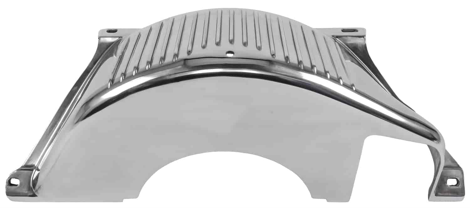 JEGS 60197 Transmission Inspection Plate for Chevy TH-350 TH-400 Black Steel