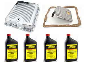 JEGS Performance Products 60183K - JEGS Polished Aluminum Transmission Pans