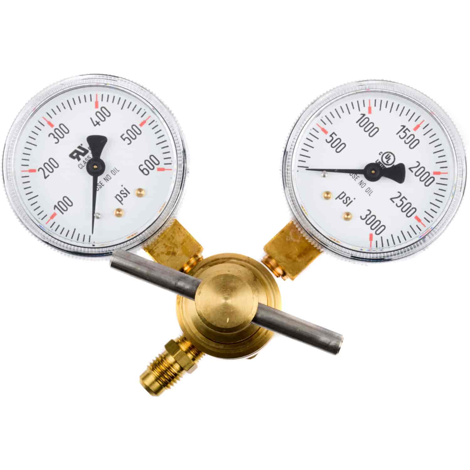 JEGS Performance Products 60200 - JEGS CO2 Pressure Regulator with Dual Gauges