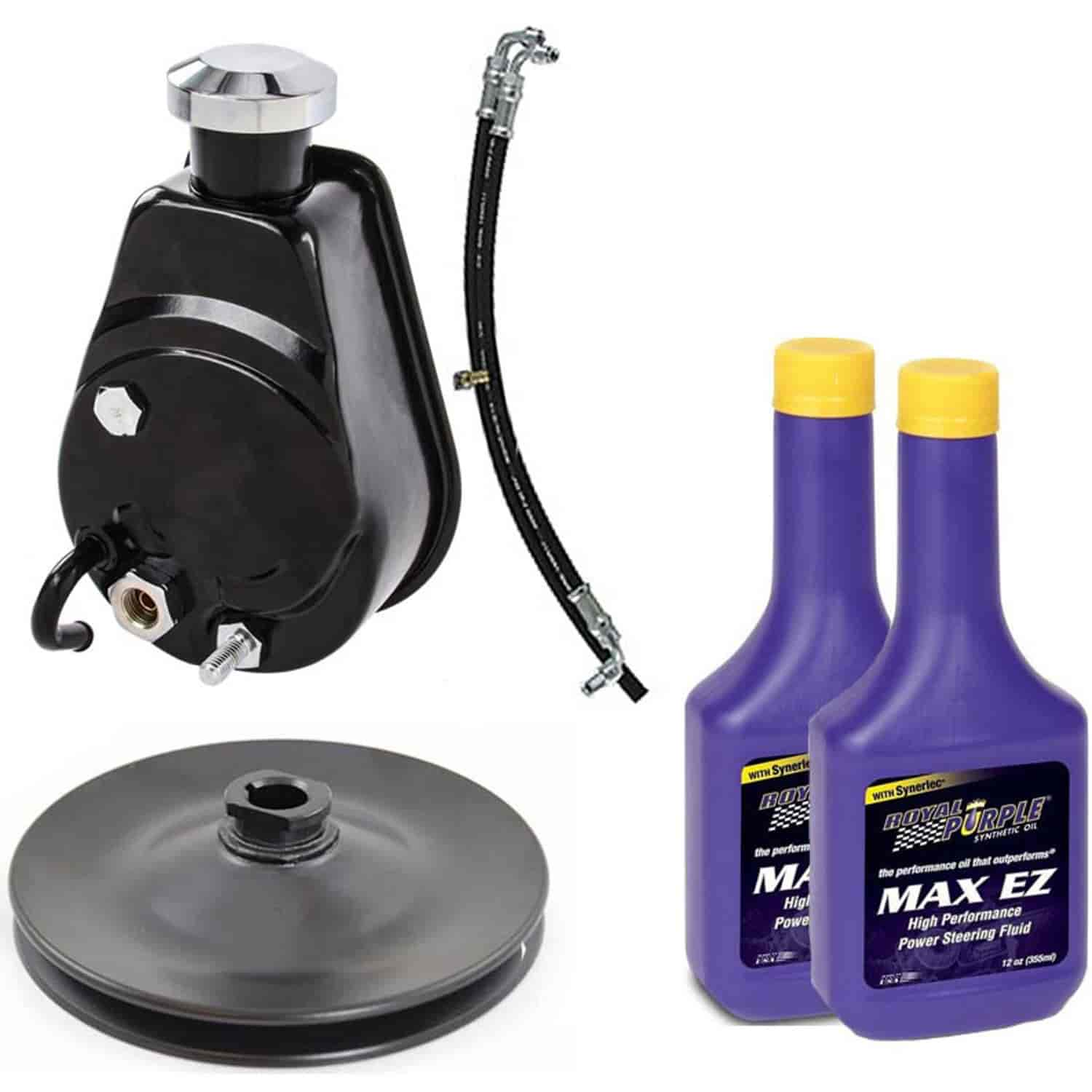 JEGS Saginaw-Style Power Steering Pump Kit for 1966-1976 GM