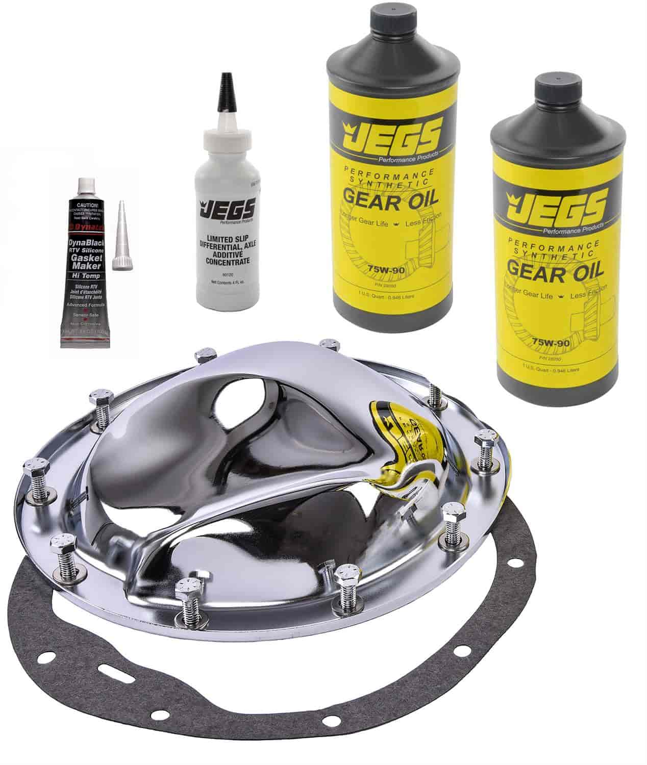 JEGS Performance Products 62510K - JEGS Chrome Rear Differential Covers
