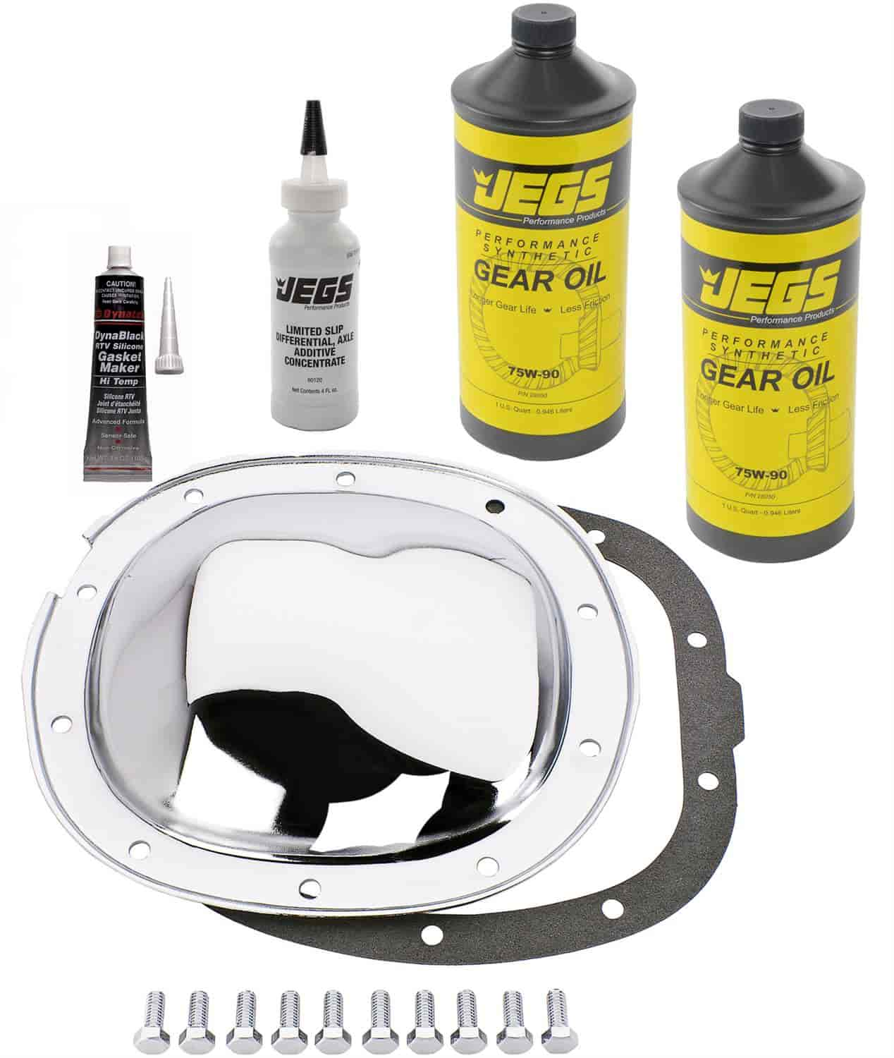 JEGS Performance Products 62511K - JEGS Chrome Rear Differential Covers