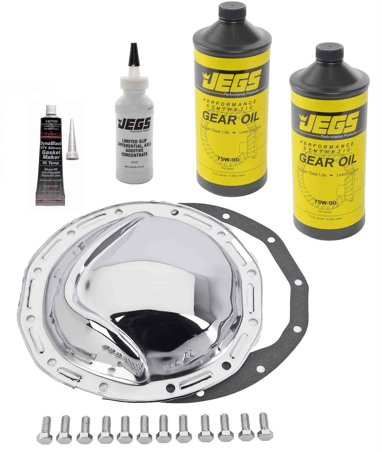 JEGS Performance Products 62512K - JEGS Chrome Rear Differential Covers