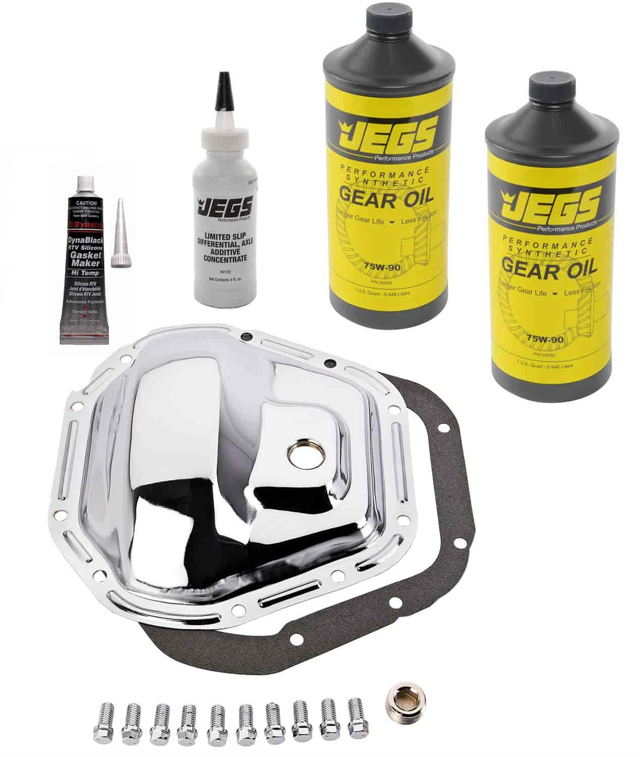 JEGS Performance Products 62520K - JEGS Chrome Rear Differential Covers