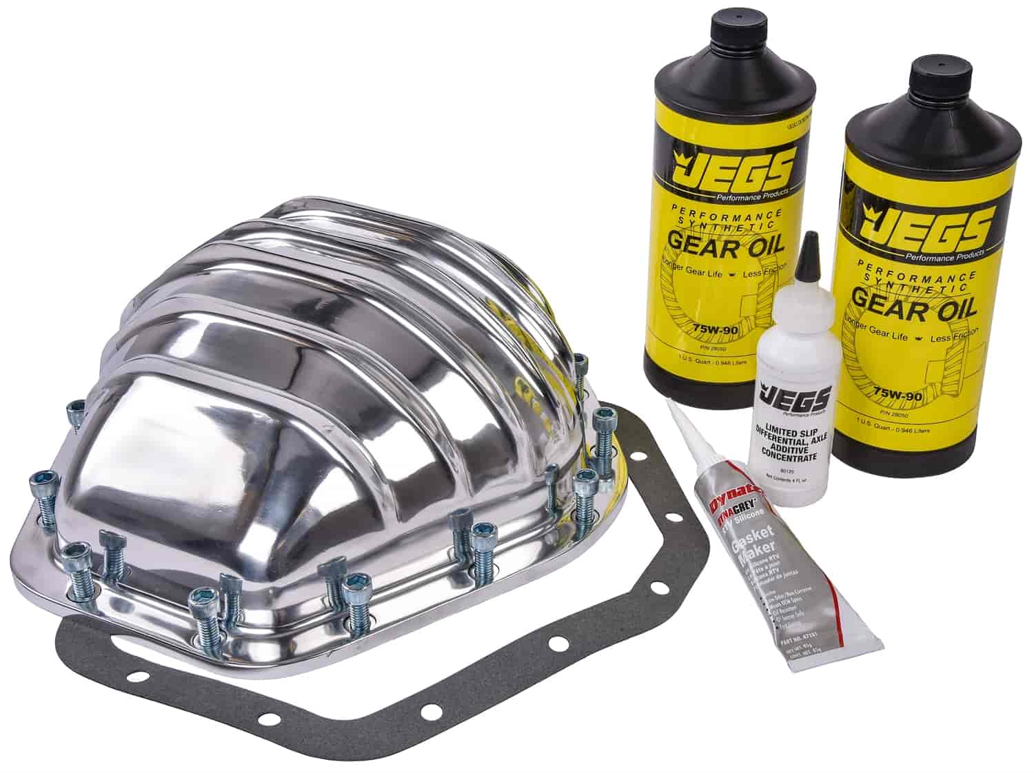 JEGS Cast Aluminum Differential Cover Kit GM 10 5