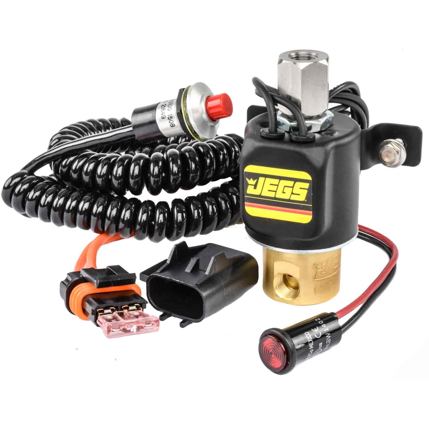 JEGS Performance Products 63002 - JEGS Stage Control Solenoid, Switch, Light and Fuse Kit
