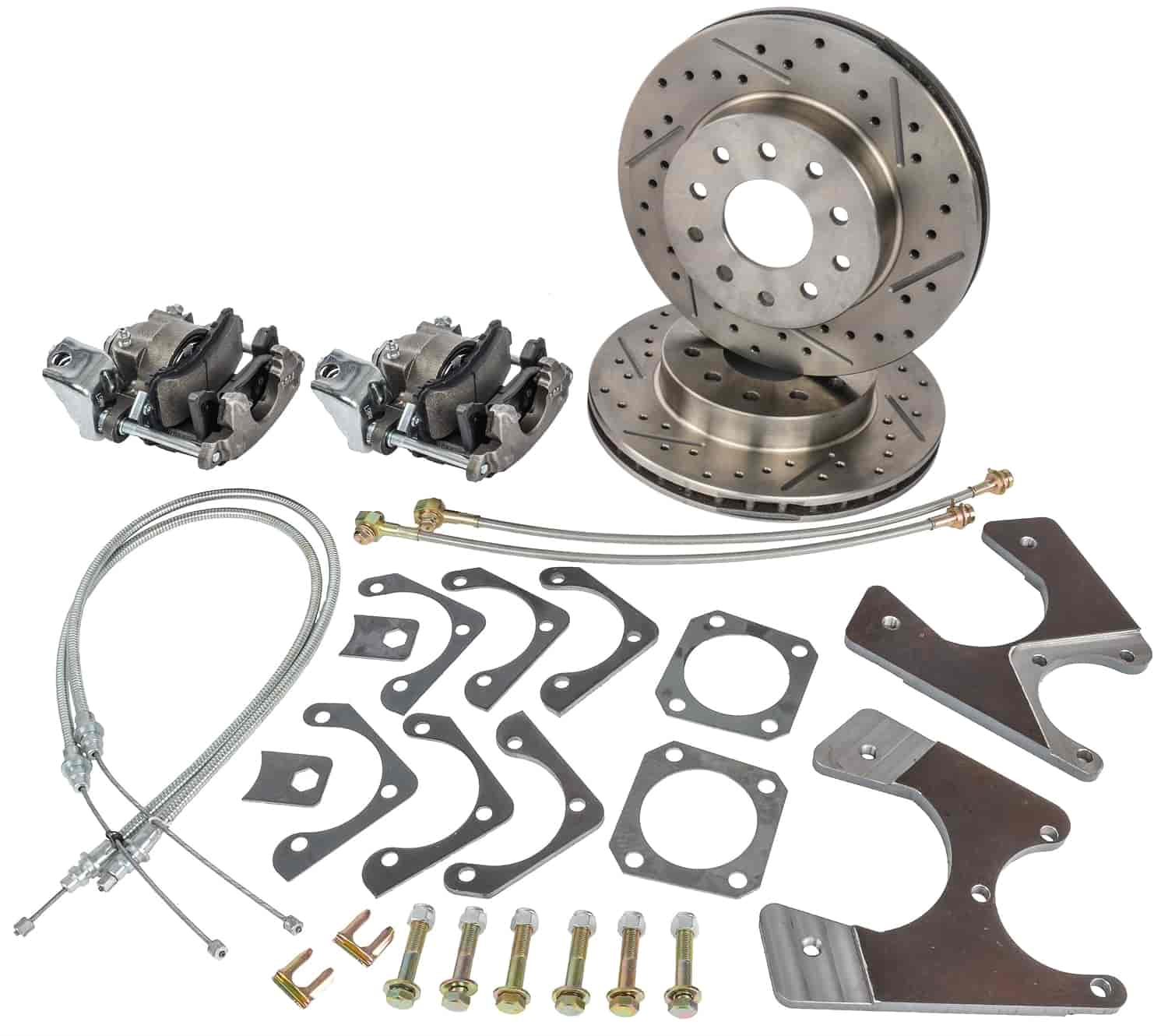 JEGS Performance Products 630615 - JEGS 10/12-Bolt GM Rear Disc Conversion Kits