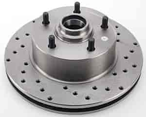 JEGS Performance Products 632000 - JEGS HP Drilled and Vented Brake Rotors