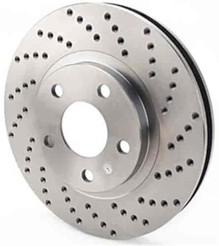 JEGS Performance Products 632124 - JEGS HP Drilled and Vented Brake Rotors
