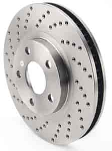 JEGS Performance Products 632121 - JEGS HP Drilled and Vented Brake Rotors
