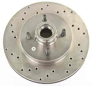 JEGS Performance Products 632101 - JEGS HP Drilled and Vented Brake Rotors