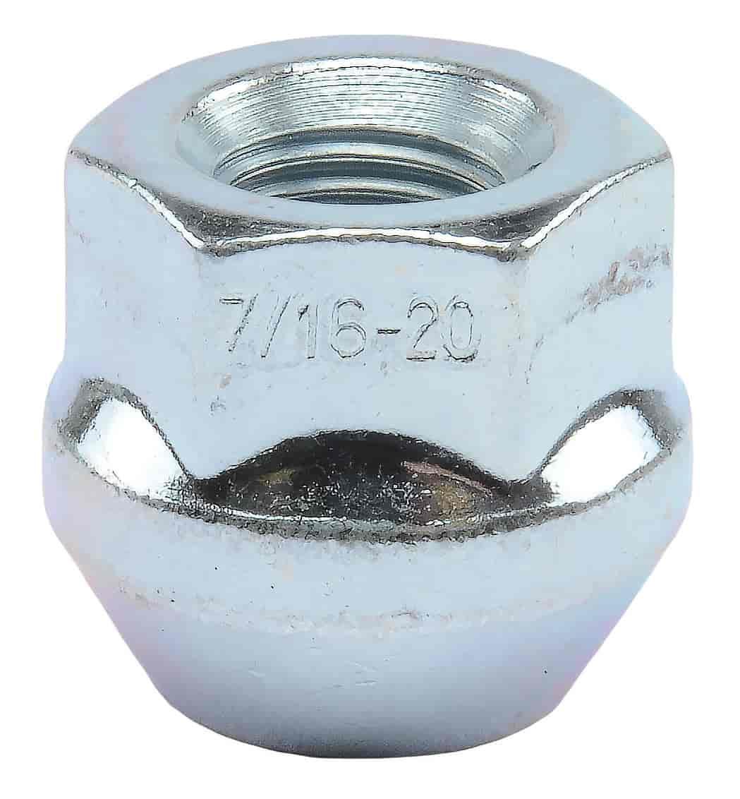 JEGS Lug Nuts 7 16 Open End Bulge Acorn Zinc 65200