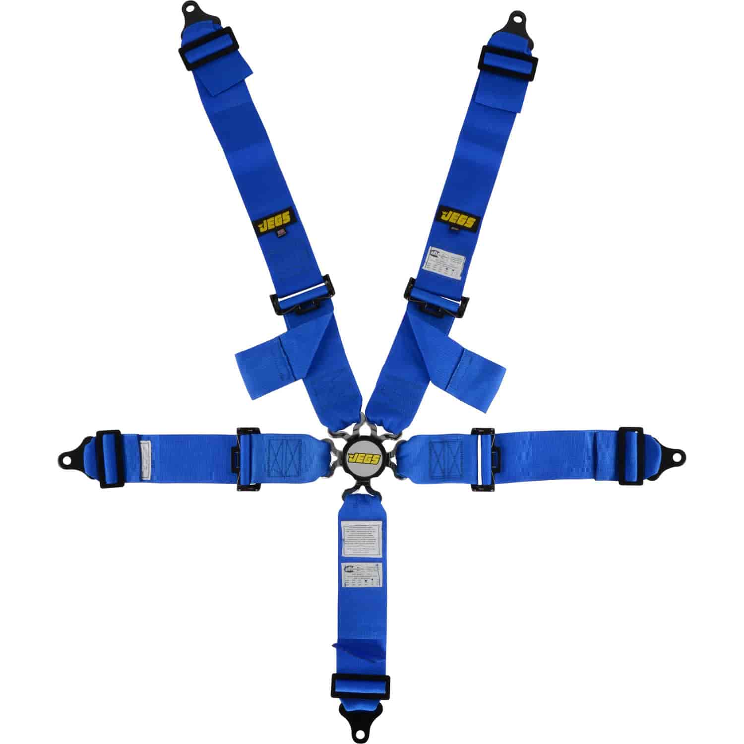 JEGS Blue Cam Lock Ultra Series Harness 5-Point Design